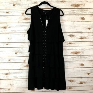 White House Black Market Grommet Lace Up Dress